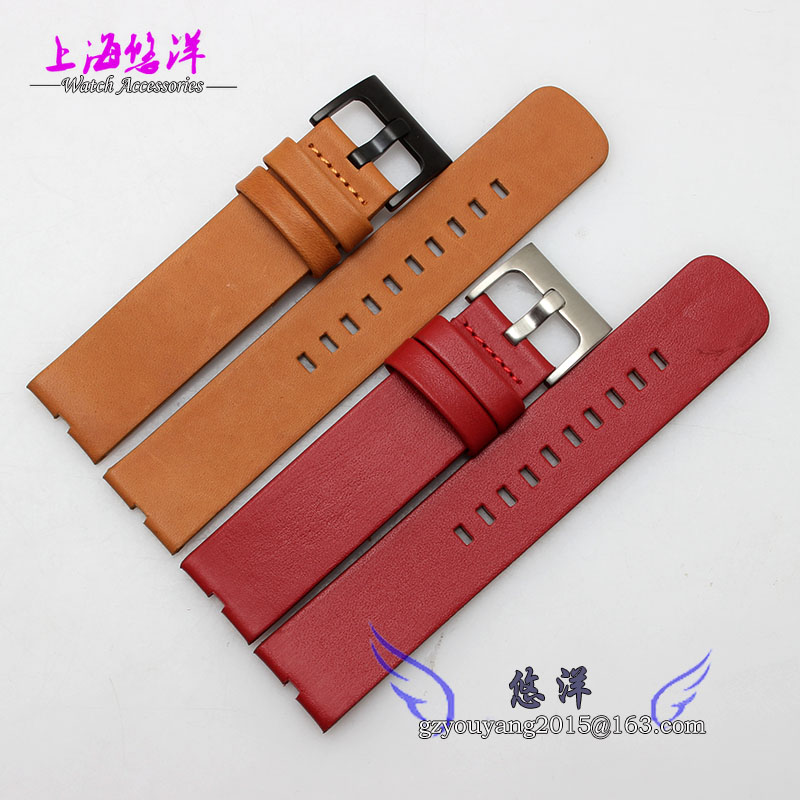 New Arrive 22mm Leather Watch Strap Deployant Bracelet Watch Band Black Brown Red Watchband For moto 360 watch<br>