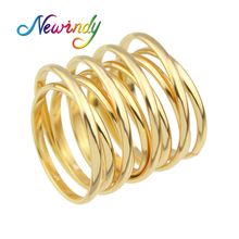 Newindy Minimalist Steampunk Style Jewelry Gold-Color Silver Color Finger Geometric Circle Shape Rings Bijoux Femme Jewellery