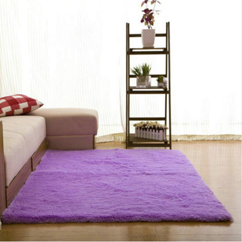 living shaggy floor dining carpet anti rug fluffy for wr rugs room skid solid area itm