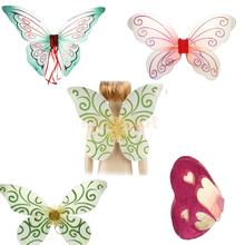 Glitter Butterfly Angel Fairy Wings Kid Child Party Costume Fancy Dress(China)