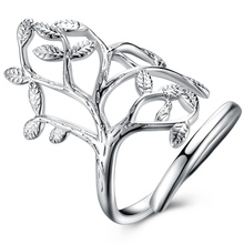 NEW ARRIVAL RING handmande leaf tree root life open adjustable resizable ring women lady gift silver unique popular best selling(China)