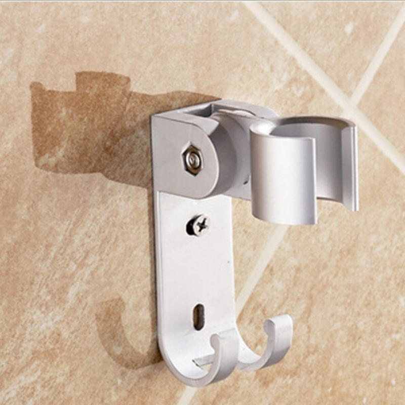 POIQIHY Aluminum Handheld Shower Holder Bathroom Faucet Accessories with Hooks Wall Mounted Wholesale and Retail