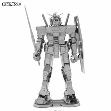 Finger Rock 3D Metal Puzzles Assemble DIY MOBILE SUIT GUNDAM RX-78-2 Model Toys New Year Gift WJ170