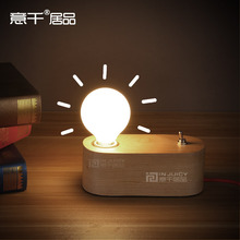 Nordic Simple Antique Edison Wood Desk Light Table Lamp Vintage Home Decor Bedside Light Restaurant Cafe Bar Store Reading Lamp