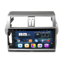 "10.1"" Quad Core Android 4.4 1024X600 Car Radio DVD GPS Navigation Central Multimedia for Toyota Land Cruiser Prado 150 2014 3G"