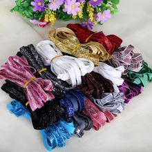 5 yard/lot 10mm Metallic Velvet Ribbon Headband Clips Bow Accessory Wedding Party DIY Gift Wrap Decoration(China)