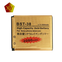 Original Gold BST38 BST-38 Battery For Sony K770 K770i K580 K850i K858 R300 R306 S312 S500 T658 W580 W580i C510 C902 C905 C905a