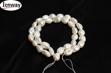 Natural reborn keshi Pearl white 8-10mm Baroque For Jewelry Making 15inches DIY necklace bracelet earring FreeShipping Wholesale