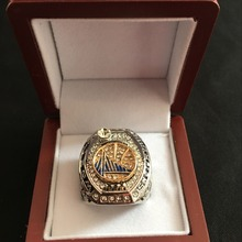 BIFAJAJA Drop Shipping 2017 Golden State Warriors National Basketball Championship Ring Size Big 11 Men Sports Jewelry(China)