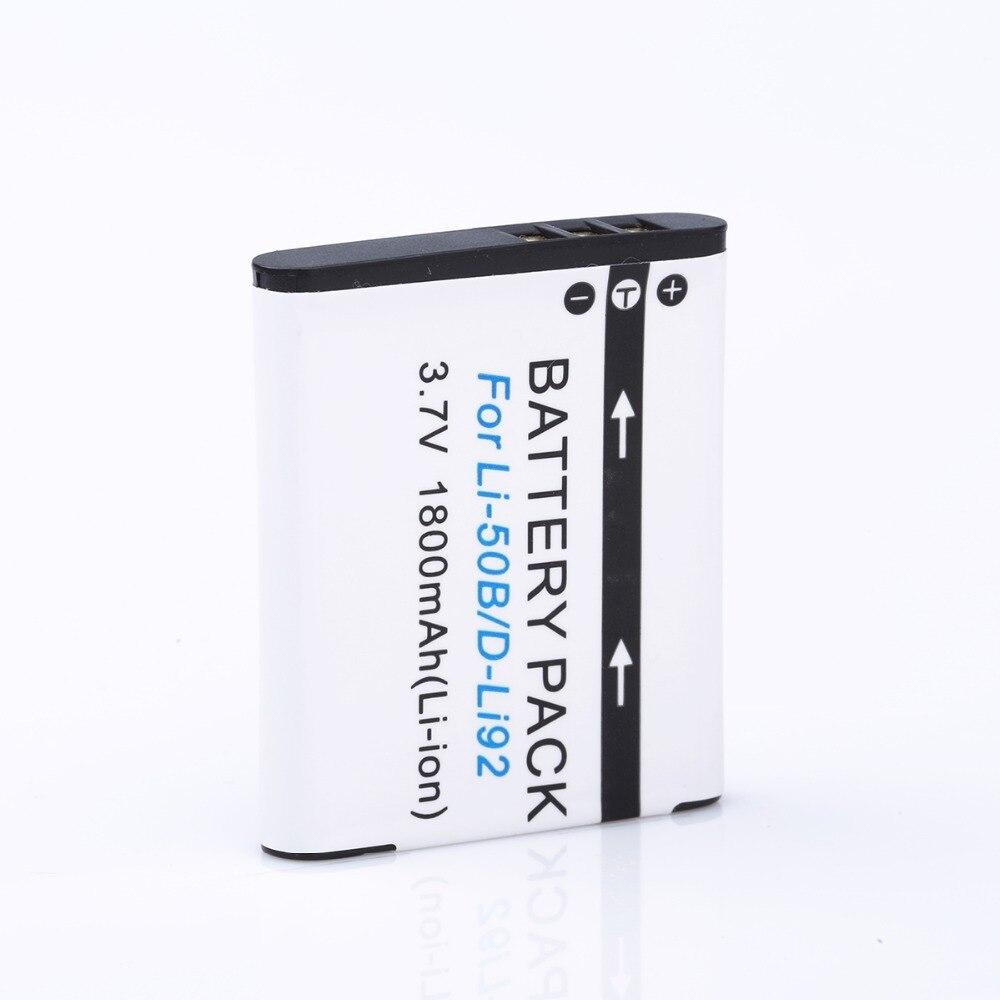 HIBTY 1800 mAh LI-50B Rechargeable Li-ion Battery For Olympus Mju 1020 SP-800UZ Stylus 1010 u 1010 Ricoh CX3 CX4 D-LI92 DLI92<br><br>Aliexpress