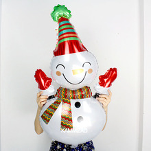 KAMMIZAD Snowman Balloons Big Size 108X70CM Aluminium Foil Kids' Inflatable Globos Christmas Decoration Children Toy Supplies(China)