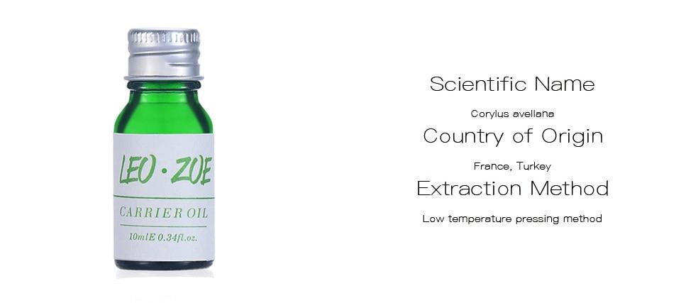 Pure Hazelnut Oil Famous Brand LEOZOE Certificate Of Origin France Authentication Hazelnut Essential Oil 10ML 11