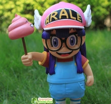 Free shipping, Dr.Slump Arale angel hat play faeces PVC Figure 20cm Height for friend gift(China)