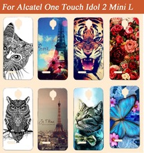 Special Patterns Case For Alcatel One Touch Idol 2 Mini L 6014 6014D 6014X Original 3D diy Painted Hot Popular case cover shell