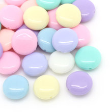 200PCs Random Mixed Candy Color Acrylic Spacer Beads Oblate 12x5mm For Jewelry Making DIY Findings Fit Bracelets Necklaces(China)