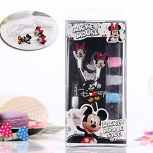 Cartoon Earphone Cute Minnie Mickey Mouse Headset 3.5mm In-ear Earbuds for iPhone Xiaomi Cellphone Mp3 for iPad free shipping