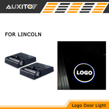 2pcs LED car door logo projection light welcome lamps For LINCOLN MKX MKC MARK MKT MKZ LS MTK WITH LINCOLN LOGO