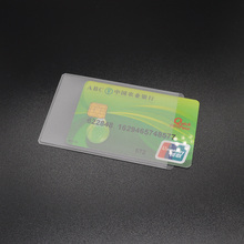 3 Pcs Super Slim Pvc Id Card Holder Plastic Silicone Card Protector Transparent Bus Bank Card Badge Holder Wallet Cards