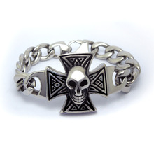 2015 Sale Hot Sale Boys Jewelry Bracelets & Bangles Pirates Of The Caribbean Skull Bracelet To Ultimate Punk Male Hand Ce456