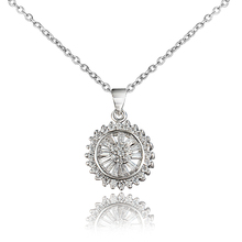 Vashiria Women's Summer Jewelry Stores Rhodium plated Necklaces & Pendants With AAA CZ Long Pendant Necklace 18KRGPN966