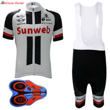 2016 Short cycling jersey sets hombre White with black short Ropa Ciclismo Maillot Ciclismo sport clothing 9D gel pad