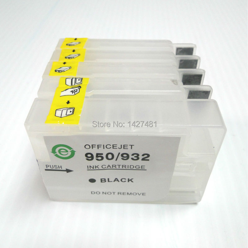 Chip &amp; Empty Refillable ink cartridge 932 933 CN053AE/CN054AE/CN055AE/CN056AE For HP officejet 6100 6600 6700 7110 7610 7612<br><br>Aliexpress