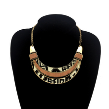 Trendy Wood Triangle Vintage Acrylic For Women Maxi Collar Pendants Necklaces Jewellery Mujer bijoux famale Bohemian Accessories(China)