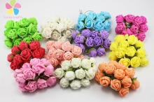 12pcs/132pcs 2cm Multicolor can choose artificial Mulberry Paper Rose Bouquet wedding flower 027021014