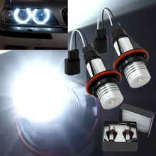 7000k LED Angle Eyes Halo Xenon Marker Ring Light Bulb Canbus For BMW E39 E53 E60 E61 E63 E64 E65 E66 X5
