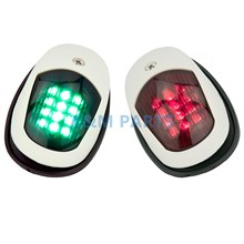 12V LED Marine Navigation Bow Light Boat Stern Light Green Starboard Red Port Light Pair