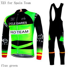 2017 Pro Team Cycle Diaries Winter Cycling Clothing/Winter Thermal Fleece cycling Jerseys/uniform Mountain Ropa Ciclismo(China)