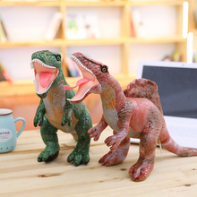 New realistic Dinosaur plush toys hobbies, Tyrannosaurus stuffed toy dolls for children boys gift,baby classic education model(China)