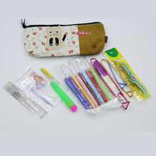 High Quality with Bag 38Pcs Set Multi-colour Aluminum And Silver Crochet Hooks Needles Knit Weave Craft Yarn
