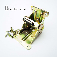 2X Steel Self Lock Extension Table Bed Leg Feet Folding Foldable Support Bracket B-color zinc
