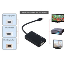 1pcs Thunderbolt to DVI VGA HDMI HDTV Adapter 3in1 For Microsoft For Surface Pro 3 2 1 Hot Worldwide Drop Shipping