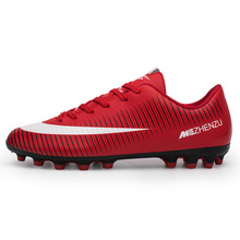 Long Spike Soccer Mens Trainers Outdoor 2017 Indoor Football Shoes Professional Training Football Boots Sports Shoes For Male(China)