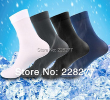 Free Shipping 60pcs=30 pairs/lot Men's Socks bamboo fiber cotton for summer spring 2015 new man soks sox stocking silk cheap(China)