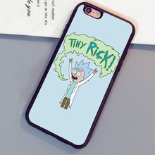 Rick and Morty TINY RICK Printed Mobile Phone Cases For iPhone 6 6S Plus 7 7 Plus 5 5S 5C SE 4S Soft Rubber Capa Funda Coque