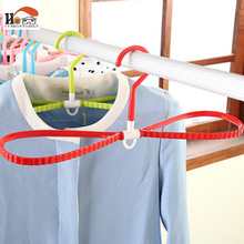 CUSHAWFAMILY Colorful Clothing non-slip Hanger Can rotate 360 degrees Plastic Drying Cloth Hangers Rack Clothes Peg