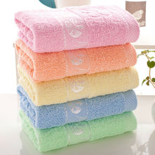 Simanfei 2017 New Family Solid Soft Face Towel High Quality 33cm*75cm Sweet Printed Brand Towels 100g(China)