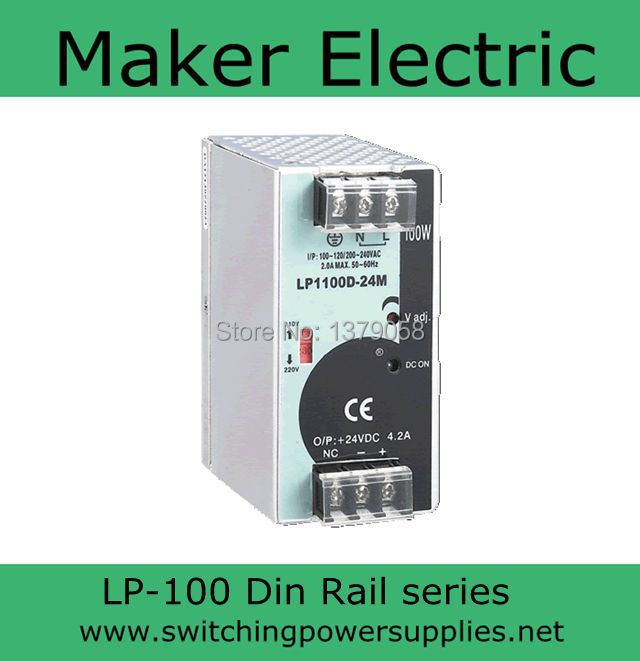 din rail power supply Without the function of measuring 24v LP-100-24 100W<br><br>Aliexpress