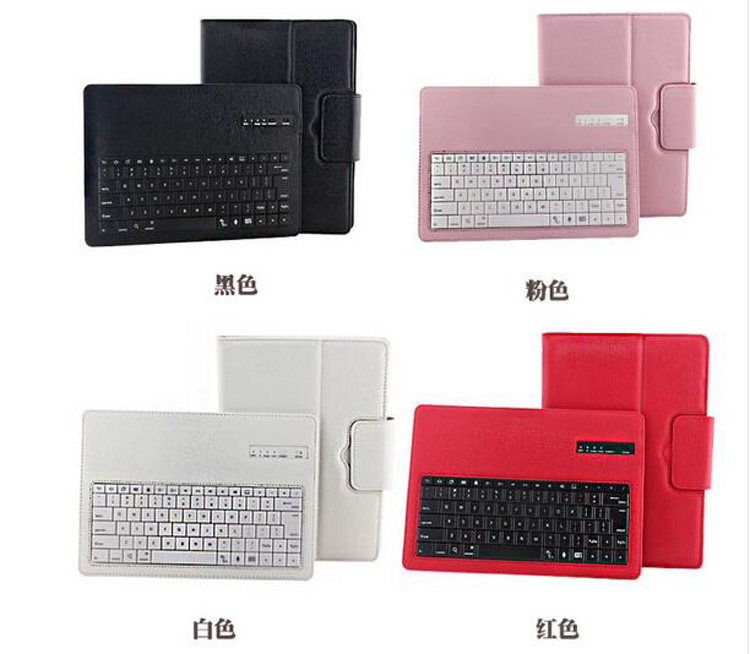 Removable Wireless Bluetooth Russian/Hebrew/Spanish Keyboard Stand PU Leather Case For Samsung Galaxy Note 10.1 N8000 N8010<br>