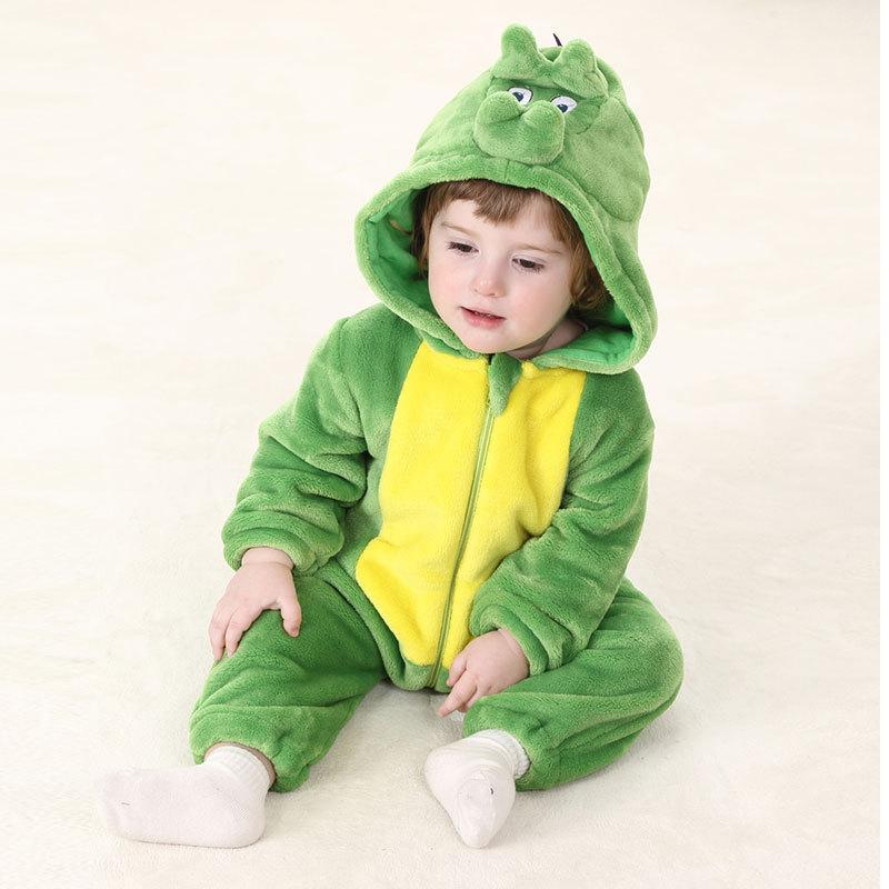 Spring Autumn Animal Cartoon Cosplay Design Hooded Baby Blanket Sleepers For 0-24 months Infant Flannel pijama pajamas Sleepwear<br>