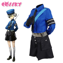 Persona 5 Caroline Cosplay Costume School Uniform Party Suits Blue Shirt Full Set Halloween Christmas Costume for Woman(China)