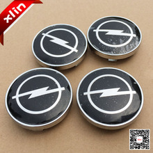 SHUAIZHONG 4pcs Hot sale 60mm Black Opel logo Wheel Center Hub Cap Badge emblem covers accessories(China)