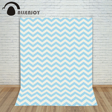 Photography background cute white blue striped twill princess boy photo studio Allenjoy backdrops(China)