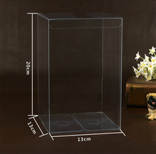 30pcs 13*13*20cm clear plastic pvc box packing boxes for gifts/chocolate/candy/cosmetic/cake/crafts square transparent pvc Box