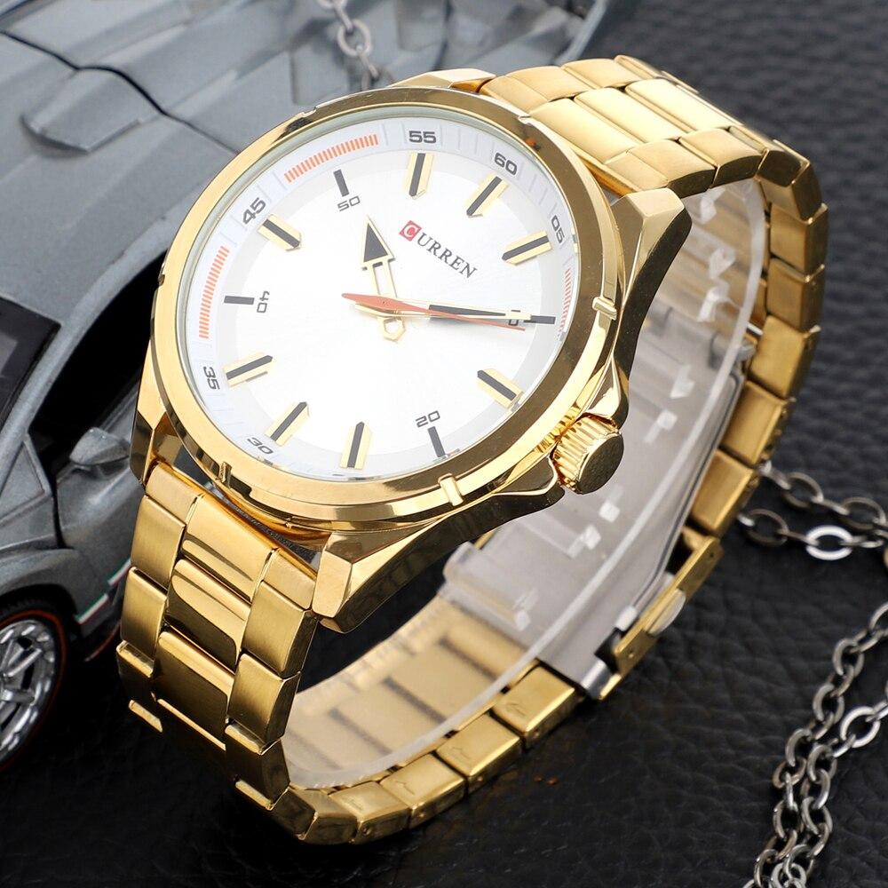 CURREN Fashion Men\\\'s Watch with Stainless Steel Strap Simple Creative Quartz Wristwatch for Men Clock erkek kol saati Waterproof 2019 (15)