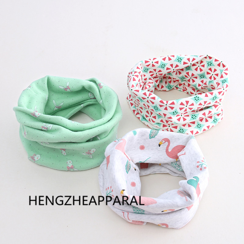 fashion cotton flower high quality children o ring collars boys girls scarf baby kids scarves spring neckerchief accessories