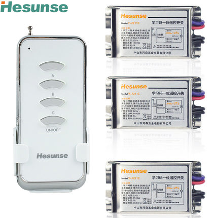 Y-F211C1N3 Wireless 3 Way 315mhz  220V Wireless Remote Control Light Switches Learning Code With 3 Metal Receivers <br><br>Aliexpress
